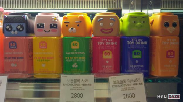 Even Korean juice bottles resemble cute cartoons