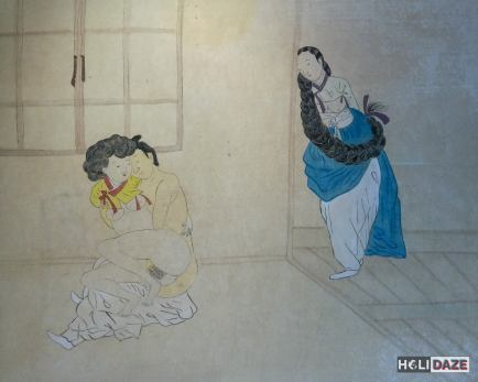 Traditional Korean Chunwha erotic art at Love Castle Sex Museum in Gyeongju, South Korea