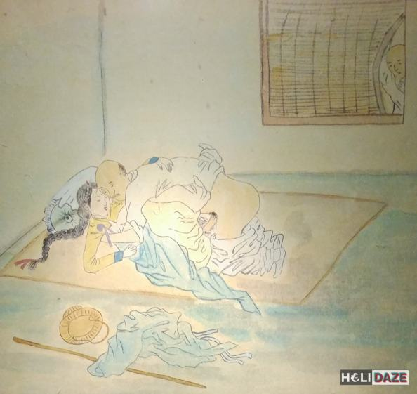 Traditional Korean erotic art at Love Castle Sex Museum in Korea