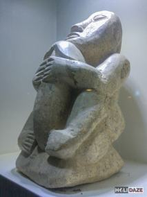 Antique stone statue of a man with a huge penis at the Love Castle sex museum in Gyeongju, South Korea