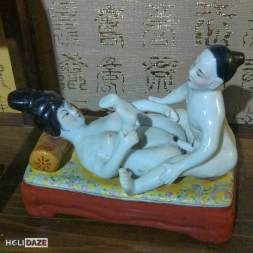 Pornographic porcelain figures at the Love Castle sex museum in Gyeonju, South Korea