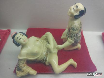 Antique sexual porcelain figures at the Love Castle sex museum in Gyeonju, South Korea
