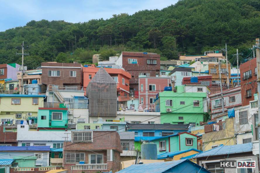 Colorful, beautiful architecture at Gamcheon Culture Village in Busan, South Korea