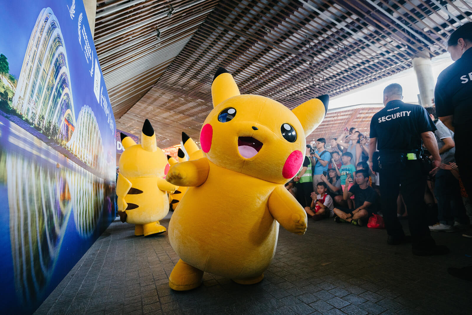 Yellow Pikachu mascot in Singapore