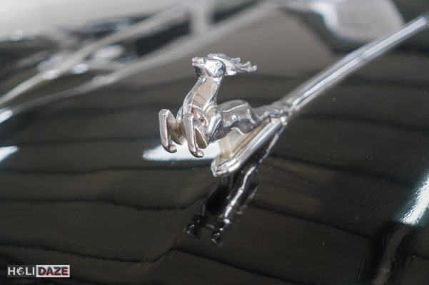 Hood ornament of the GAZ-21 at Tbilisi Auto Museum