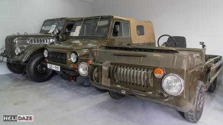 Soviet military vehicles at Tbilisi Auto Museum in Georgia