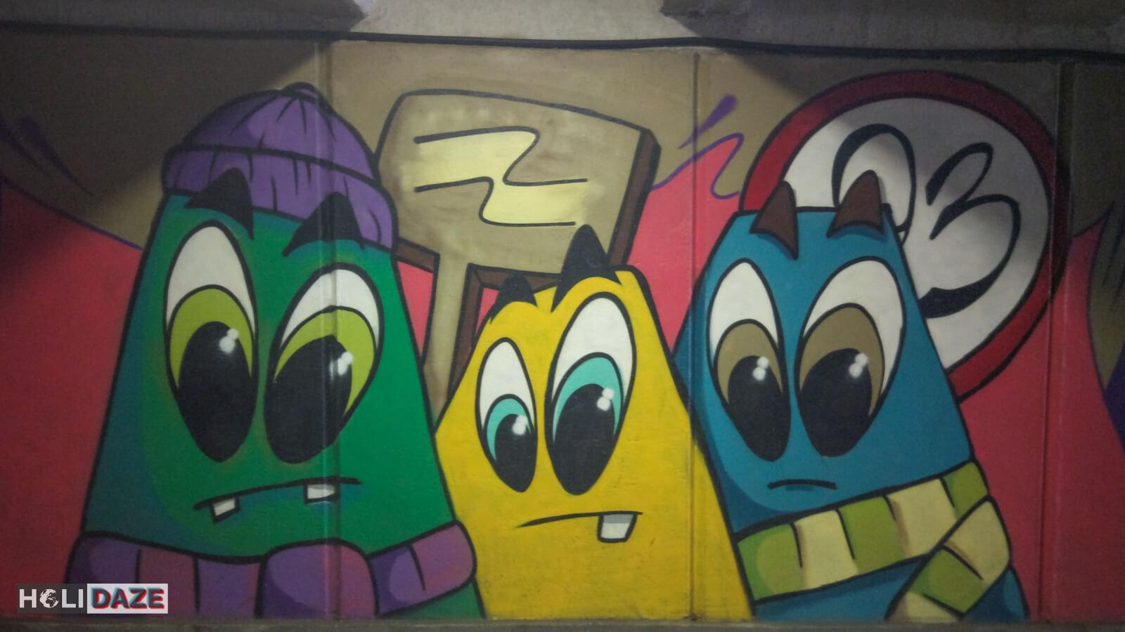 Cartoon Tbilisi Street Art