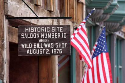 The infamous Saloon Number 10 is where Wild Bill Hickok was shot in 1876.