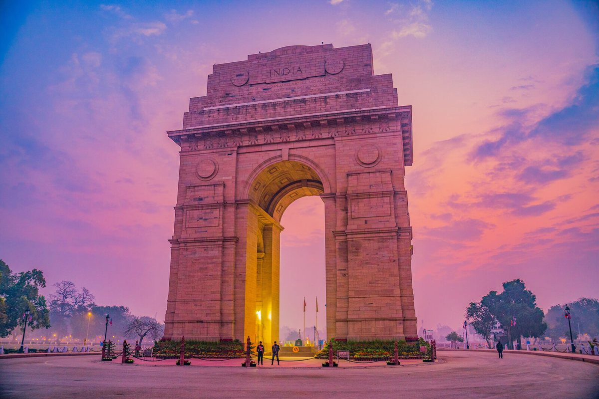India Gate just after sunset