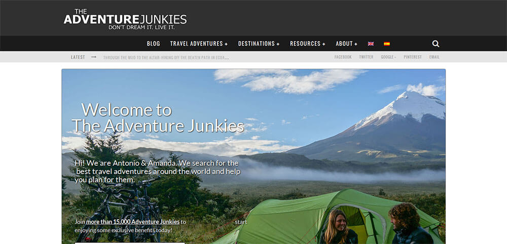 Best New Travel Blogs of 2015 - The Adventure Junkies