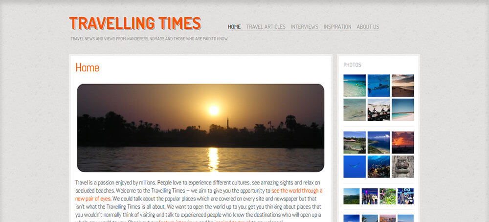 Best New Travel Blogs of May 2014: Travelling Times