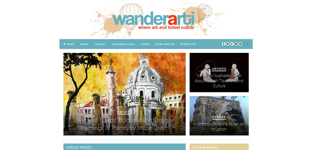 Best New Travel Blogs: Wanderarti