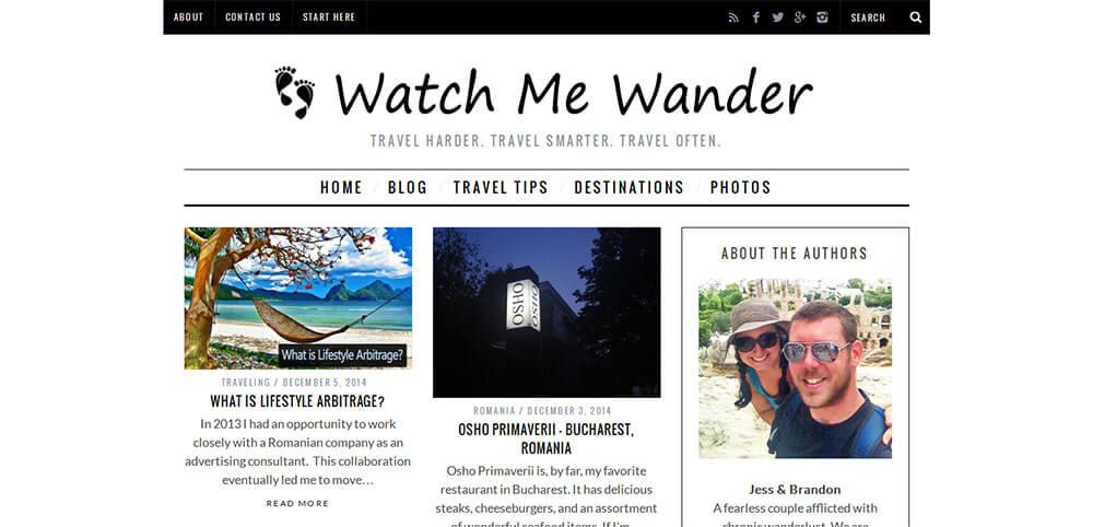 Best New Travel Blogs: Watch Me Wander