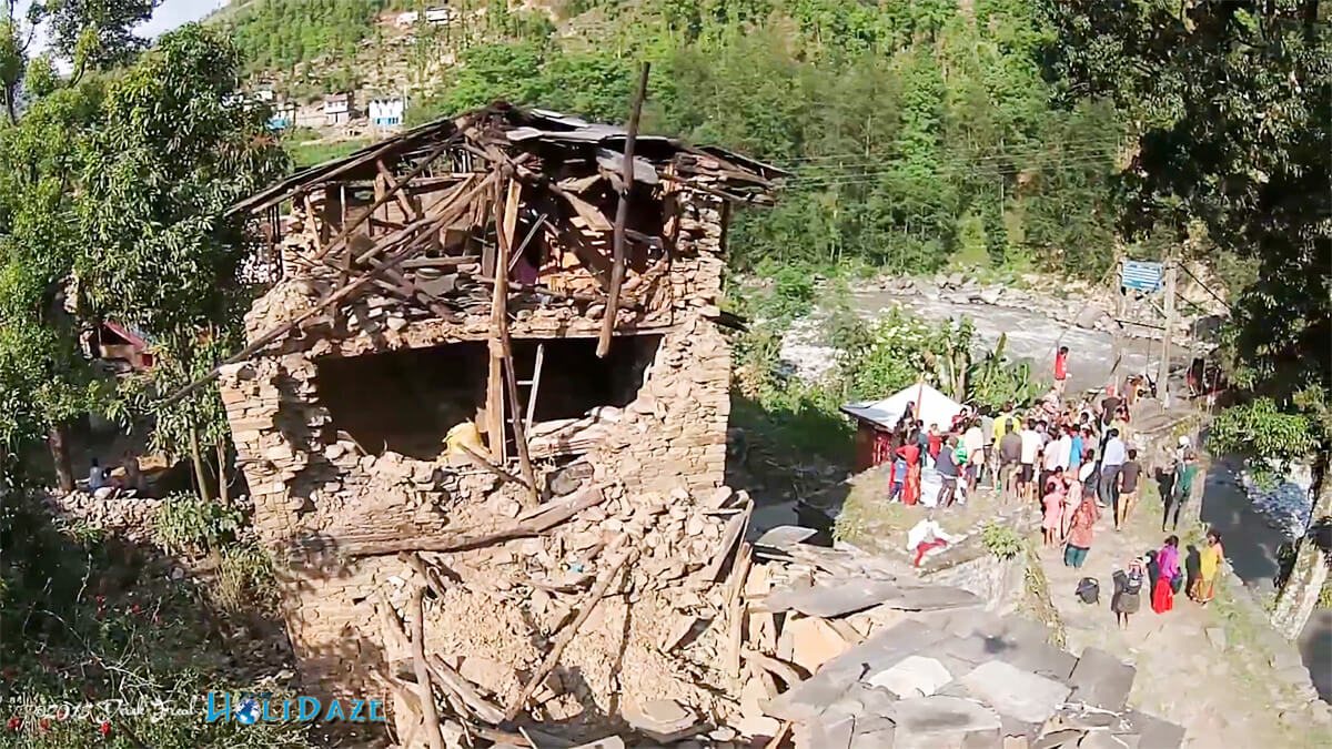 Drone footage of the Nepal earthquake in 2015