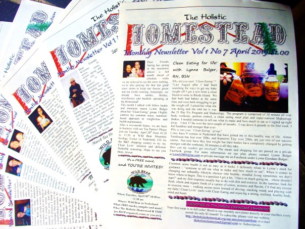 We published, printed, distributed and mailed 30 copies x 12 issues of our monthly newsletter with DIY herbal crafting, holistic book reviews, and articles on preventative medicine