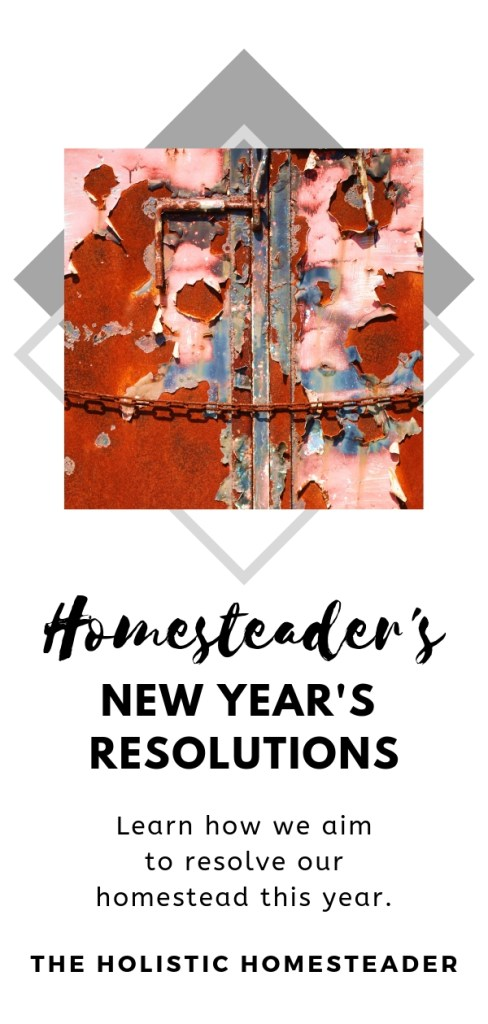 homesteader's new year's resolutions