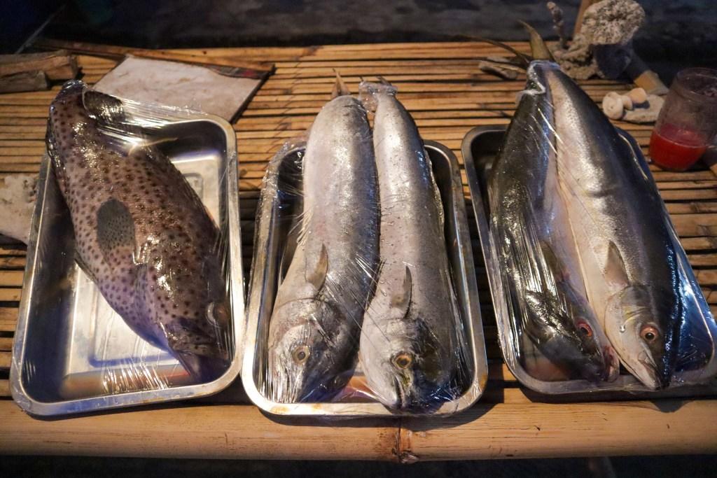 Fresh Seafood at Semasa Cafe Gili Islands