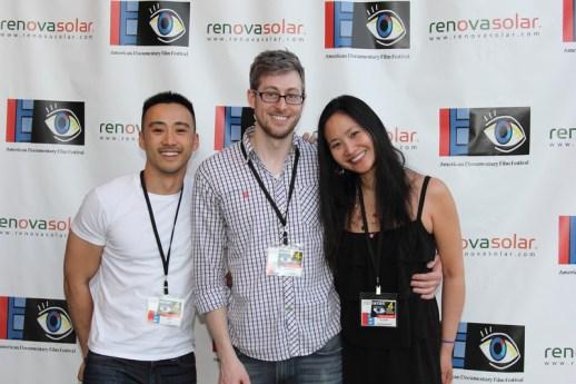 Film Fund Pitch Competitors, Alex Liu, Rujanee Mahakanjana, and Christian Stanfield