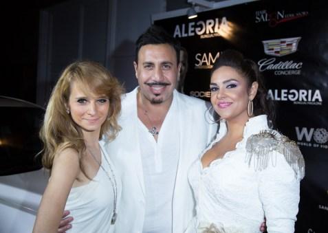 L to R: singer Maria Elena Infantino, CEO of Society Unici Michael R Foroutan, Kathy Zahedi – Foroutan (Photo: Mikhail Urubkov)