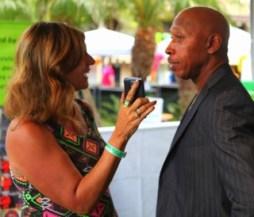 Sheryl Aronson interviewing Jeffrey Osborne.