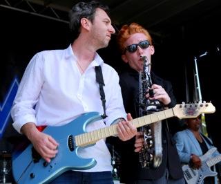 Jay Gore, guitar & Chase Huna, sax