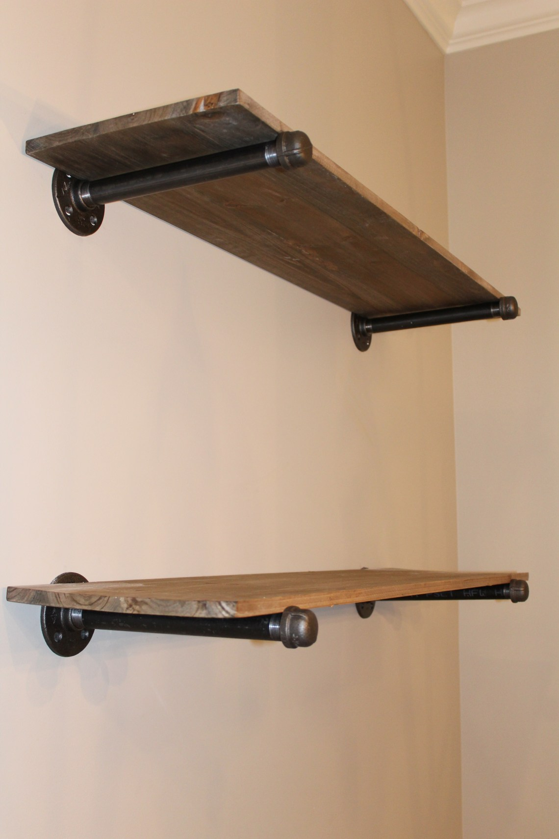 Restoration Hardware Pipe Shelves
