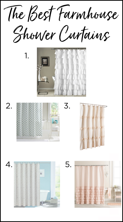 The Best Farmhouse Shower Curtains On A Budget