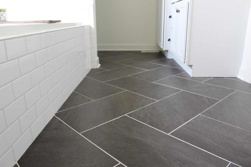 Chevron Pattern Tile Floor