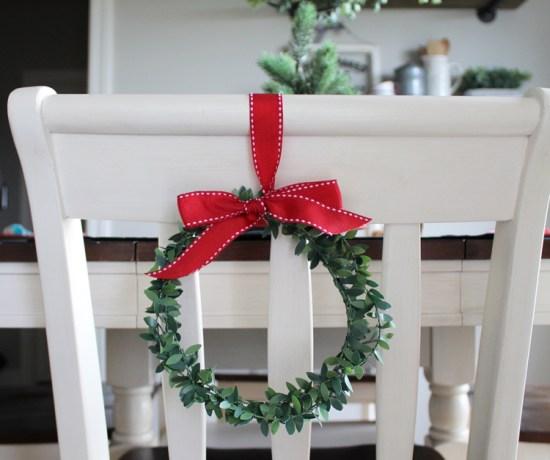 Christmas Wreath Chair Backs