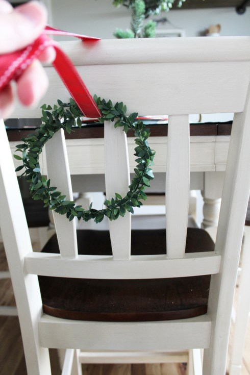 Wreaths On Chairs