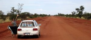 Outback red earth road