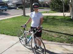 Sara Borgstede Bike - after photo of 100 pound weight loss