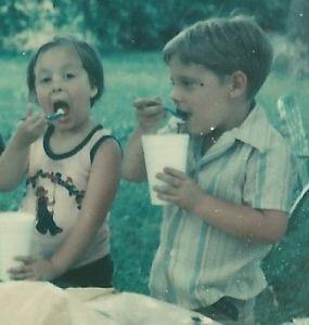 Sara eating ice cream