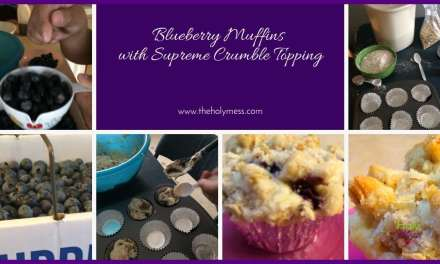 Blueberry Muffins with Supreme Crumble Topping