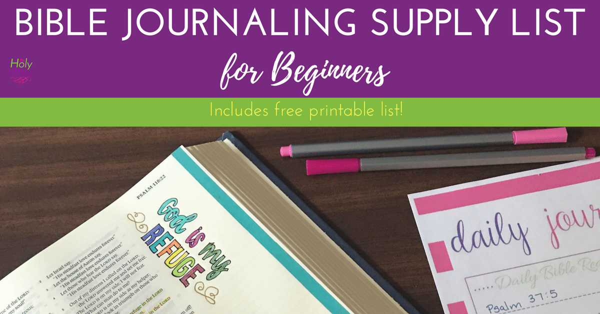 Bible Journaling Supply List for Beginners