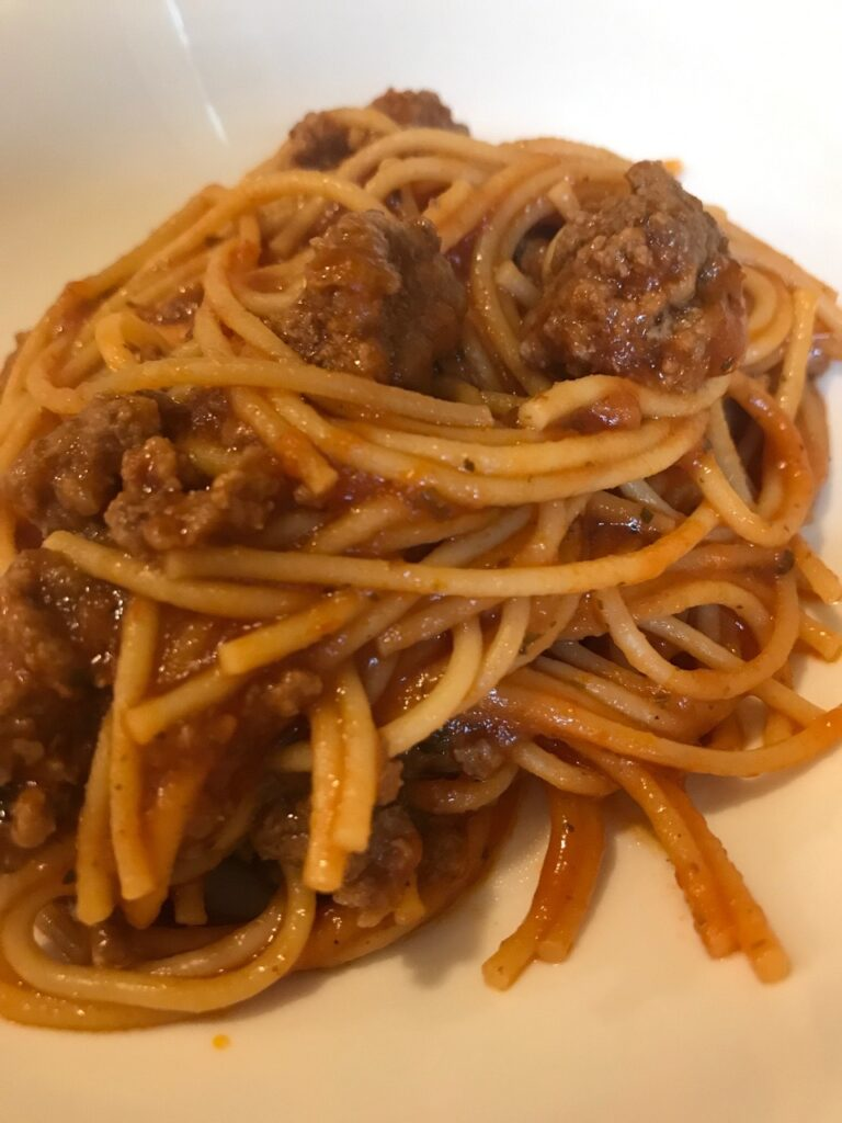 Instant Pot One Pot Spaghetti and Meat Sauce