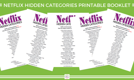Netflix Hidden Categories Printable Booklet