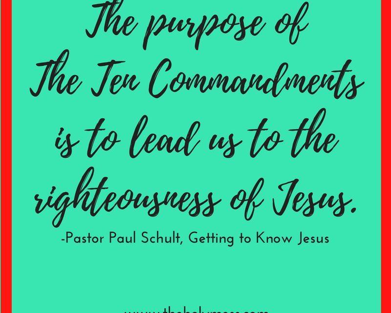 The Ten Commandments: Ten Truths That Give Life