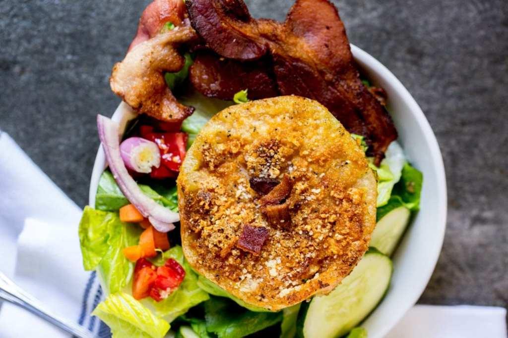Fried green tomato salad #keto