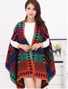 Poncho warm winter wear