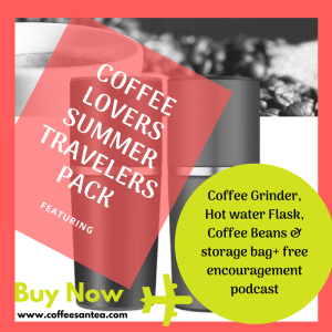 coffee lovers summer travelers pack