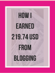 Income report, how I earned $219.74 from Blogging