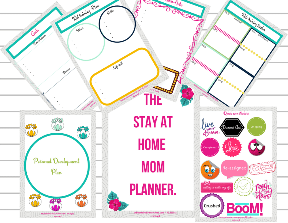 stay at home mom planner