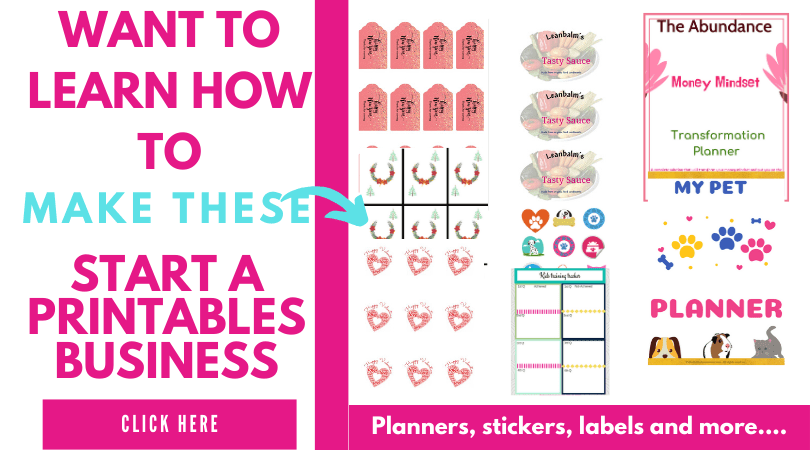 Newbie Printables Business Course Learn how to make and sell printables products