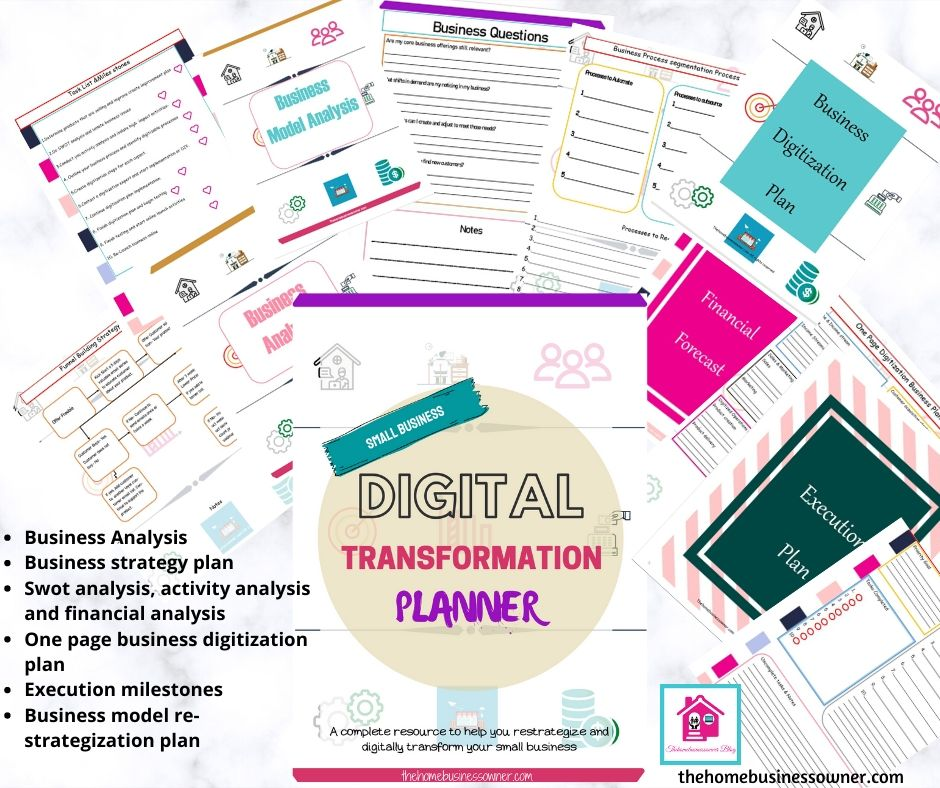 Small business strategy and digitalisation planner