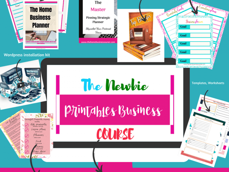 Newbie printables business course
