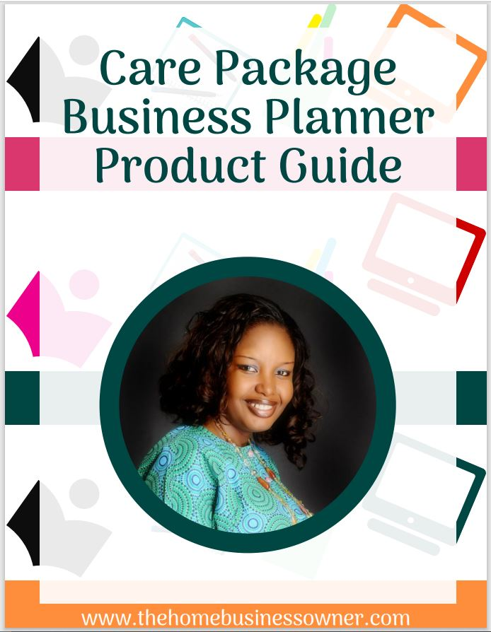 Care package business starter planner