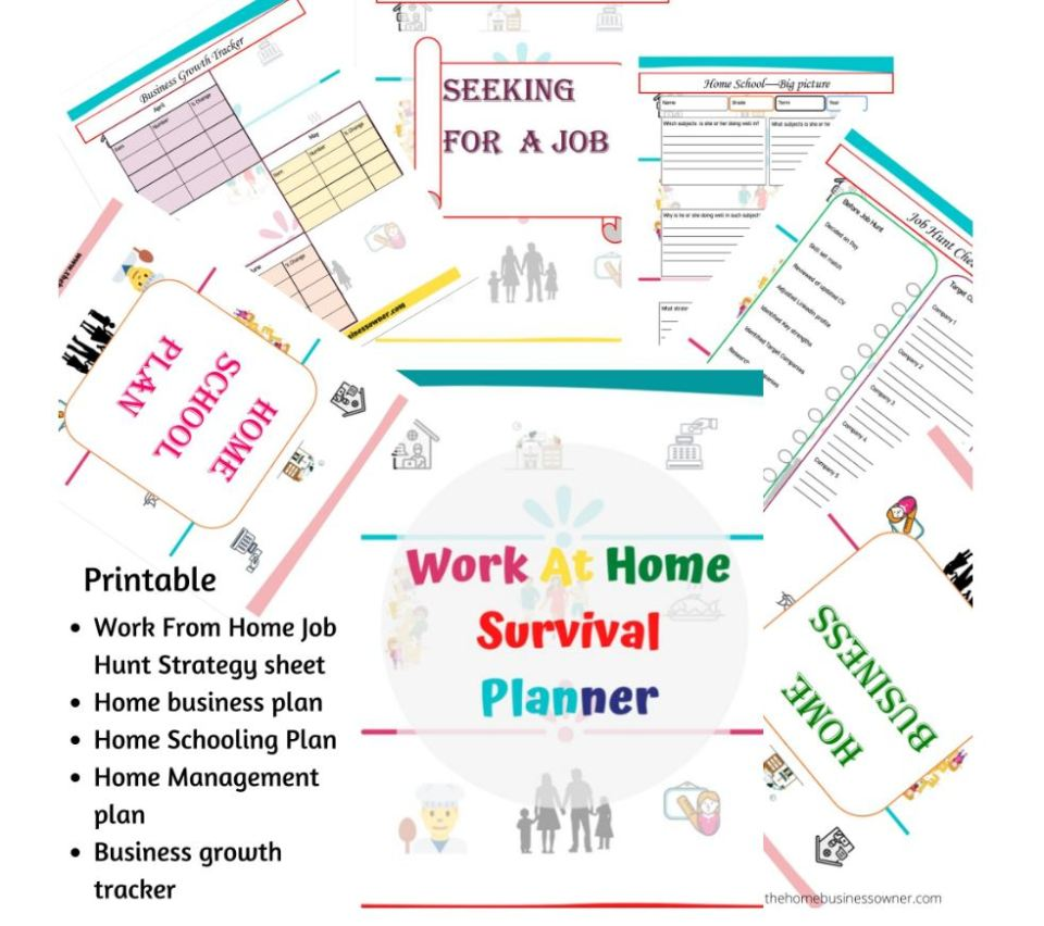 Work at home survival binder- For those who want to learn how to make money blogging for beginners