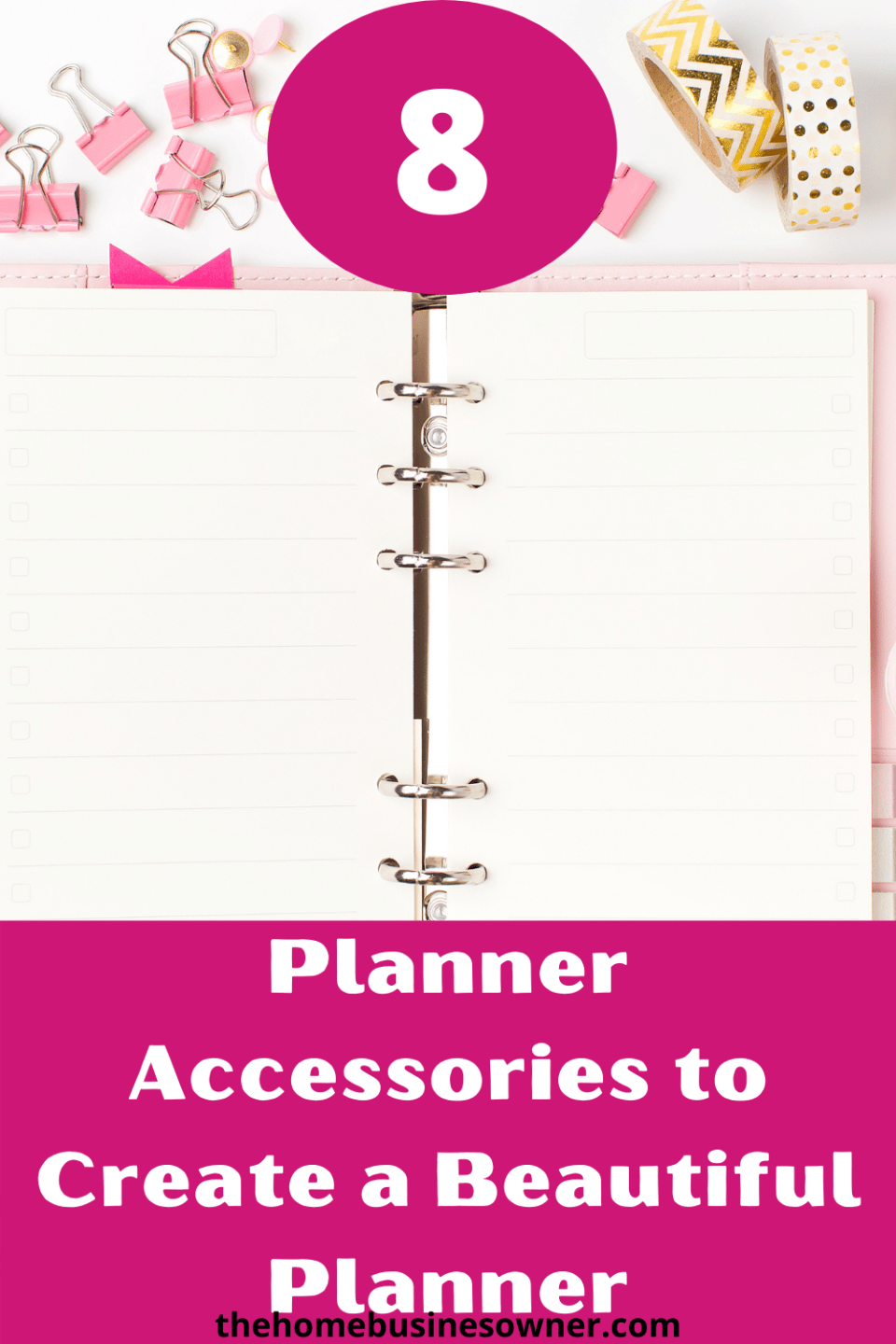 How to set up your planner for productivity.  Plannersetupideas planneraccessories