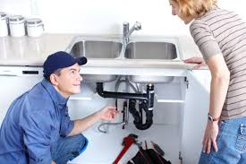 Residential plumber making an assessment